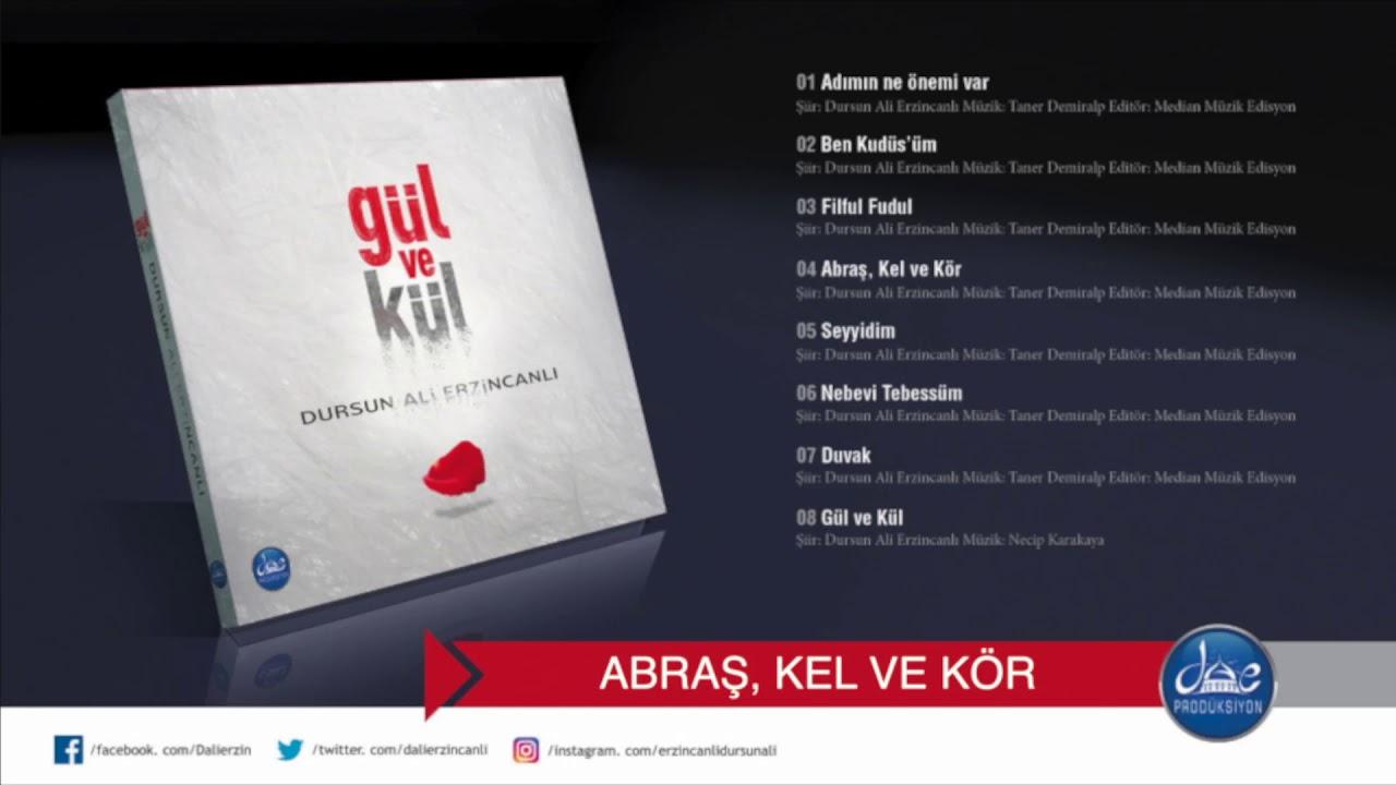 Dursun Ali Erzincanlı Abraş Kel ve Kör  (Gül ve Kül Şiir Albümü/ 2018)