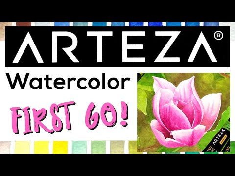 Arteza Watercolour Tubes - My First Go, Review and Magnolia painting! thumbnail