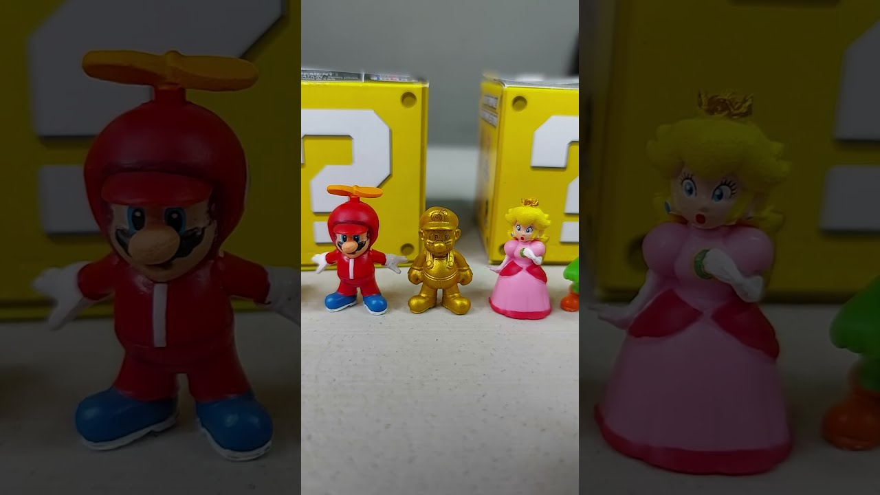 Salio el GOLD MARIO - Coleccion completa Mini Figuras Super Mario #shorts