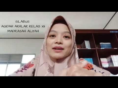 Silabus Aqidah Akhlak Kelas Xii Pertemuan 1 Youtube