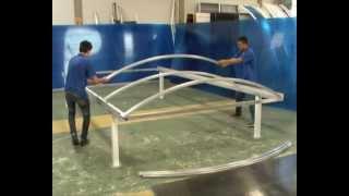 Carport Polysolution - montagem  Policarbonato compacta curva - instalação de Policarbonato
