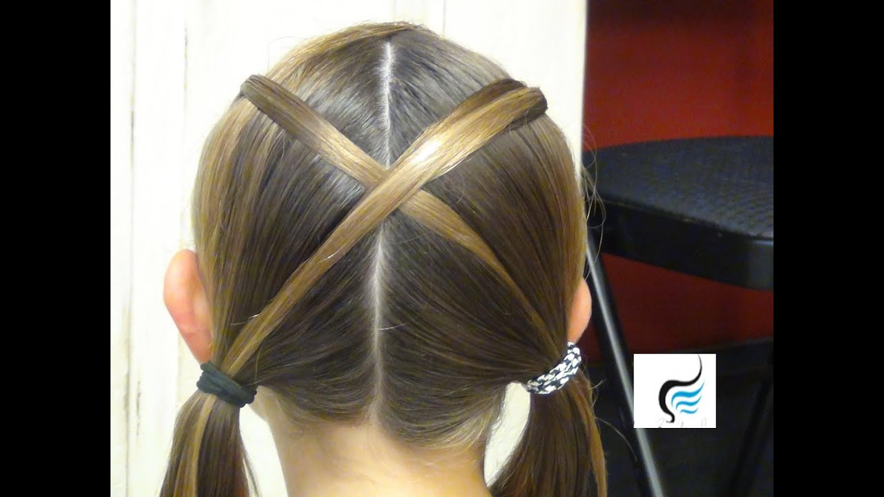 pigtails with crisscross hairstyle