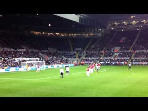 Ben Arfa Newcastle United Free Kick v Cardiff City