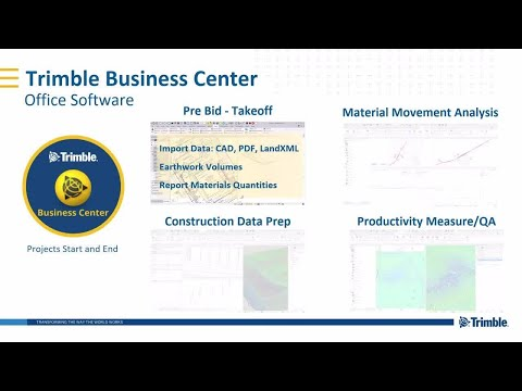 Trimble Connected Construction | Trimble Business Center (TBC ) Overview