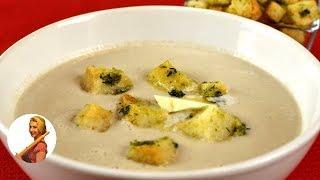 Вкуснейший СЛИВОЧНО-ГРИБНОЙ сырный СУП-ПЮРЕ с сухариками нежный Готовить просто с Люсьеной