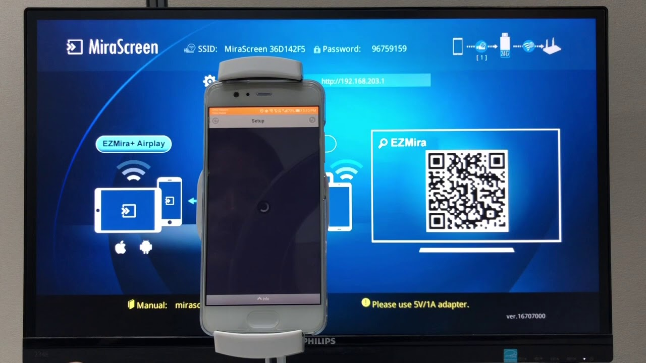How to setup MiraScreen with Android and EZMira app