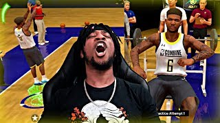 GOATED DRAFT COMBINE PERFORMANCE! MY NEW JUMPER GETS ALL GREENS!! - NBA 2K20 MyCAREER