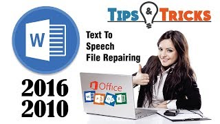 MS word 2016/2010 Tips and tricks in Urdu Hindi || Text to Speech & file Reparing