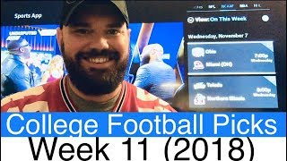 Week 11 Football Picks (2018) | NCAAF College Betting Predictions | CFB Vegas Lines & Odds (NCAA)