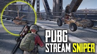 Poor PUBG Stream Sniper Gets Squashed! (Playerunknown's Battlegrounds)