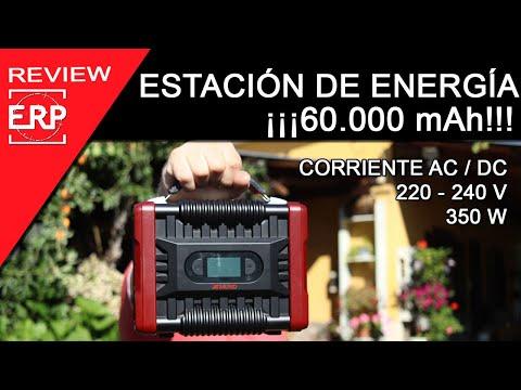 ESTACIÓN DE ENERGÍA portátil, perfecta para acampadas y viajes   POWER BANK 60.000mAh   220-240V