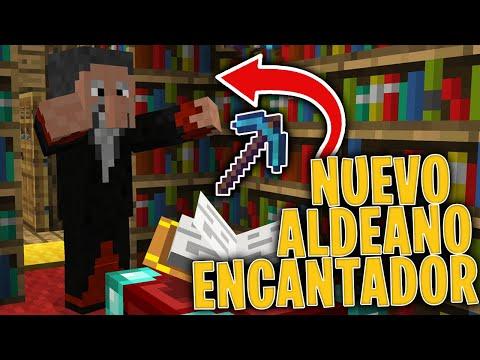 Nuevo ALDEANO ENCANTADOR En MINECRAFT! 📗 Aldeano CHETADO! 😂