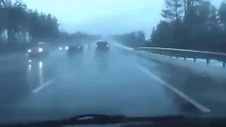 NEW scary car accident on highway in Russia!Renault Megane crash!ДТП аварии car crashes