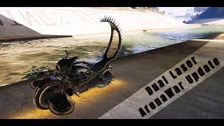 GTA V ARENA WAR*** Benefactor Apocalypse and Western Deathbike MadMax upgrade and Plasma Gun
