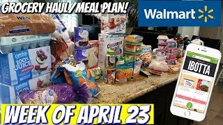 GROCERY HAUL & MEAL PLAN | WALMART | FAMILY OF 4 | 4/23/18