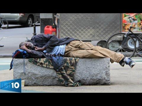 10 Most HOMELESS CITIES In The World | LIST10