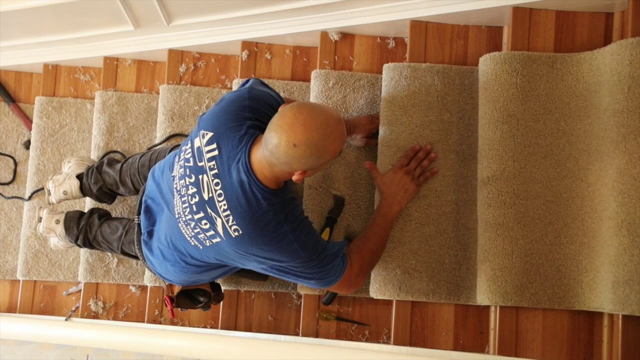 Carpet Install Stairs All Flooring Usa Orlando Veteran Owned Business