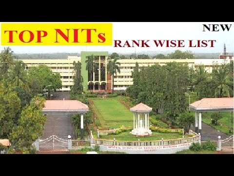 TOP NIT COLLEGES  RANK WISE LIST