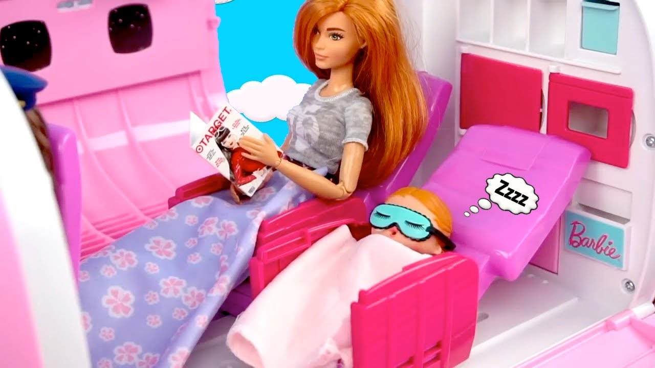 Barbie Doll LOL Family Morning Travel Routine in The Playground & Supermarket
