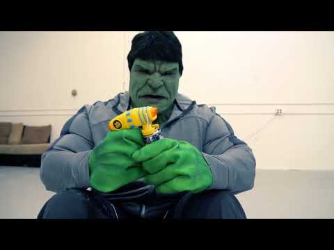 Crazy Joker Vs The Real Hulk   Silly String Blaster Battle!!  Real Life