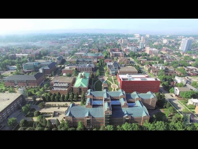 Watch Aerial Video of Beckman Institute, Engineering Quad, and North Campus Area