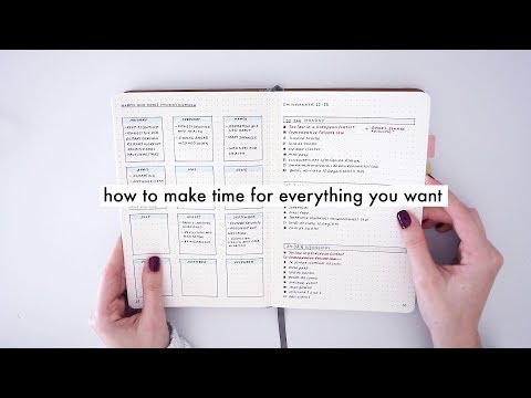 HOW TO MAKE TIME FOR EVERYTHING YOU WANT // Part I