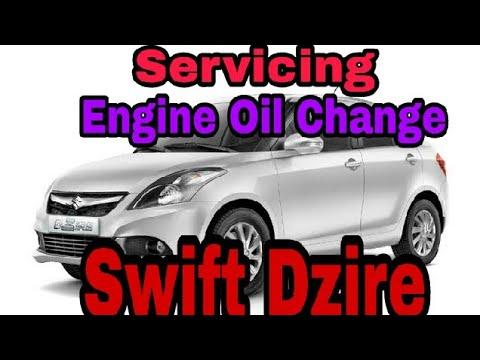 maruti suzuki swift dzire servicing engine oil change full youtube