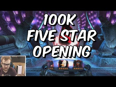 100k Five Star Crystal Opening - Free To Play Five Star #4 - Marvel Contest Of Champions