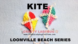 Rainbow Loom Bands Beach Kite Advanced Charm Tutorials/how To Make By Crafty Ladybug
