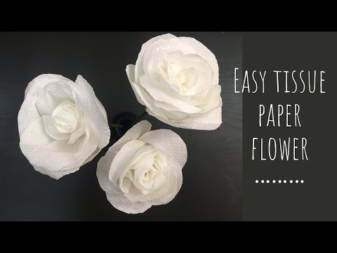 Tissue Paper Rose Flowers / DIY Paper Rose Flowers/ Decorative Flower Making/ Easy Paper Crafts