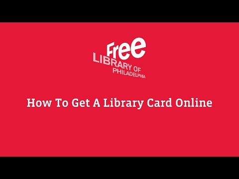 How To Get A Library Card - New Online Registration