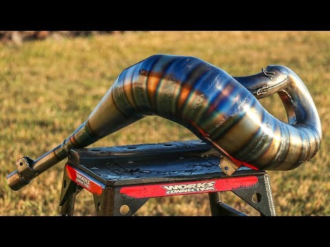 How To Make A 2 Stroke Exhaust Pipe Look Incredible!