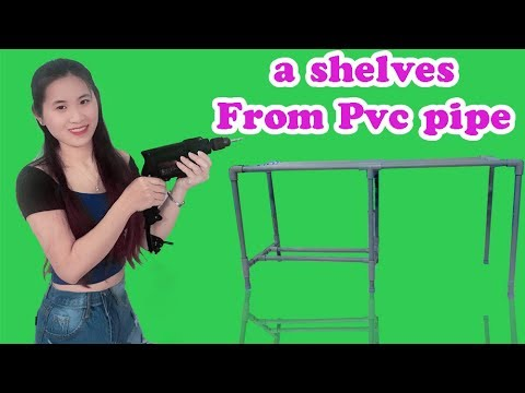 how to make a shelves From Pvc pipe l DIY Plastic pipe