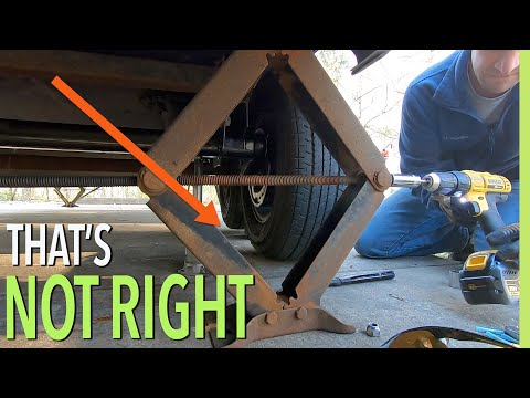 REPLACING RV TORSION AXLE - RV FAMILY OF 7