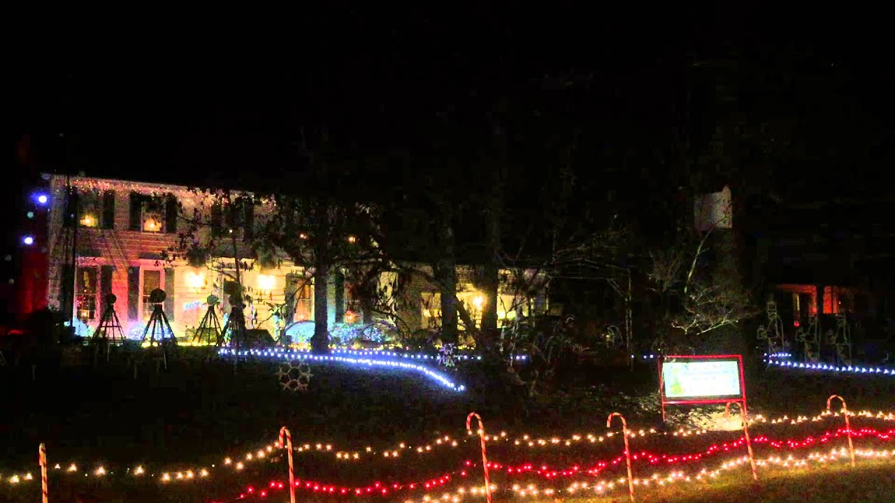 Incredible Xmas Light Display at Woodstone Dr., Raleigh, NC - YouTube