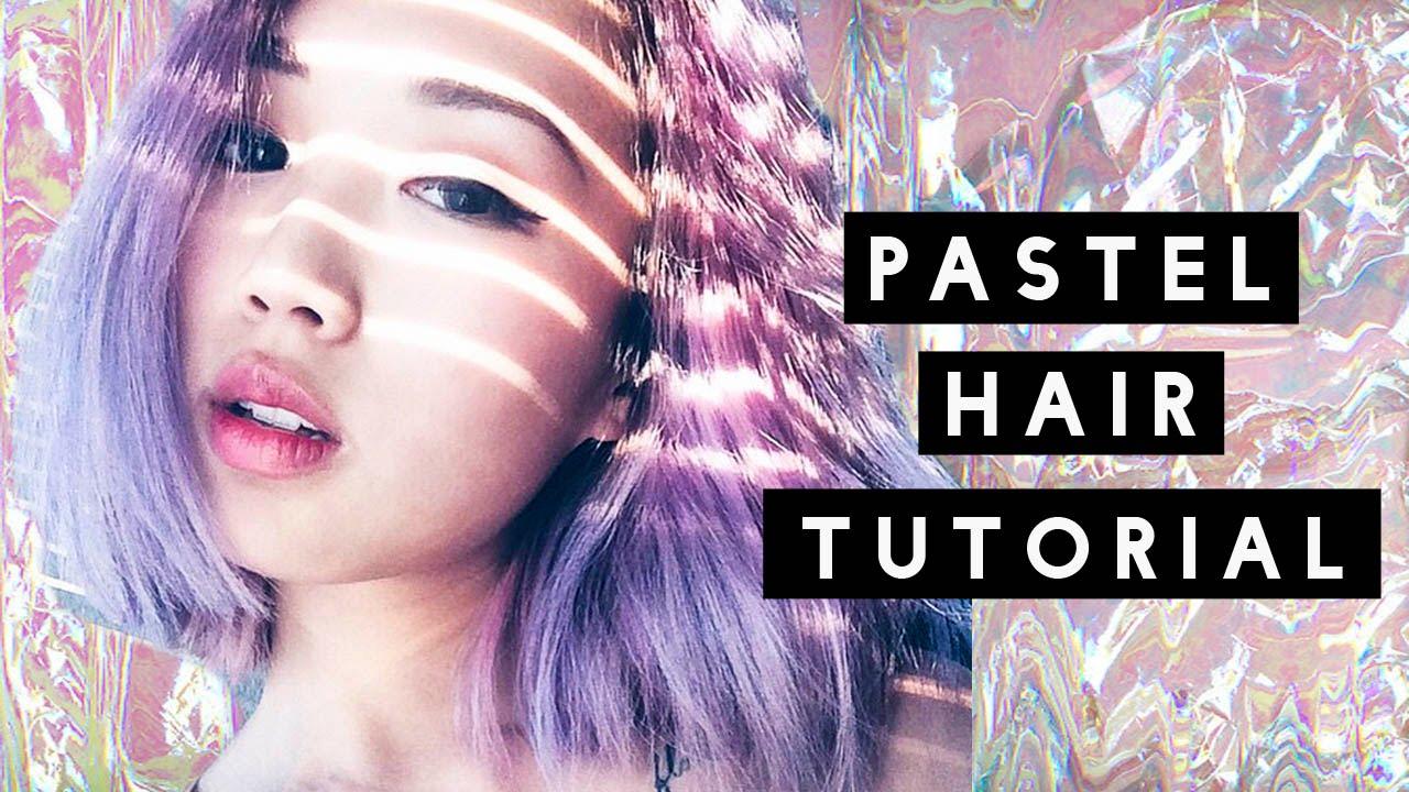 how to pastel hair tutorial dark to pastel youtube