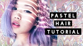 One of IAMKARENO's most viewed videos: HOW TO: Pastel Hair Tutorial (Dark to Pastel)