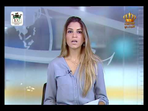 English News at Ten on Jordan Television 21-08-2016