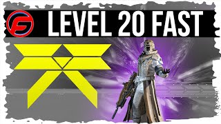 Destiny HOW TO REACH LEVEL 20 THE FASTEST WITHIN 6 HOURS Destiny Guide
