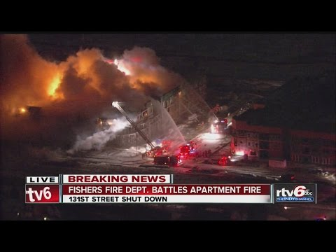 Crews Battle Large Fire At Newly Constructed Fishers Apartments