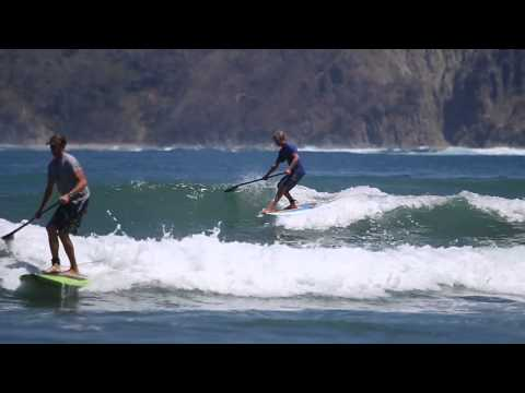 Blue Zone SUP w/Colin McPhillips; Drone footage & small surf April 2014 Costa Rica