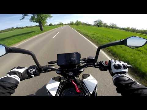 KTM Duke 125 W Arrow Exhaust Acceleration 0 60 Kmh