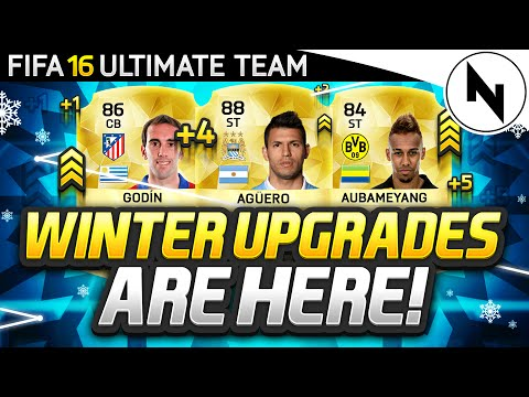 WINTER UPGRADES ARE HERE! 88 AGUERO, 84 AUBAMEYANG, 86 GODIN! - FIFA 16 Ultimate Team