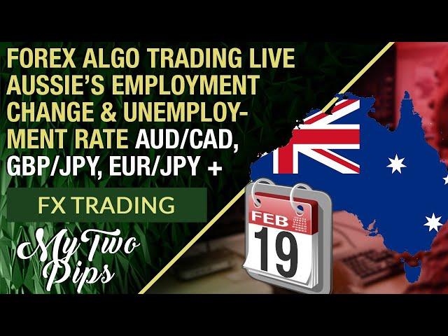 Forex Algo Trading Live Aussie's Employment Change AUD/CAD, GBP/JPY + Crazy Price Action!!!