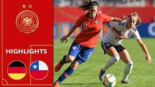 Nice win in World Cup rehearsal | Germany vs. Chile 2-0 | Highlights | Women's Friendly