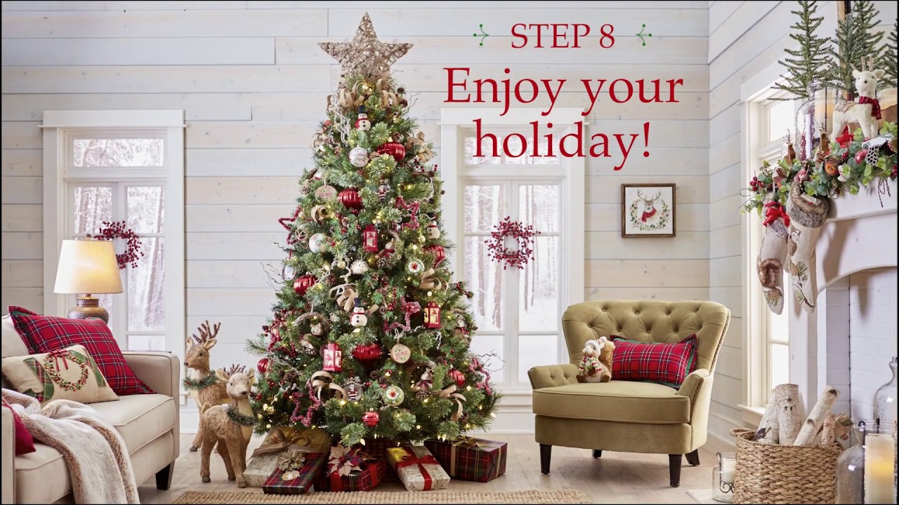 Pier 1 Imports: One Beautiful Christmas Tree in 8 Easy Steps - YouTube