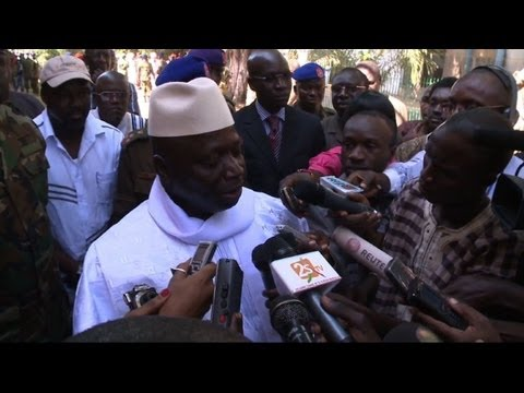 Gambia's president speaks out against press freedom