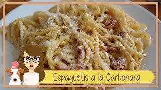 Espaguetis a la Carbonara con huevo / Receta Paso a Paso