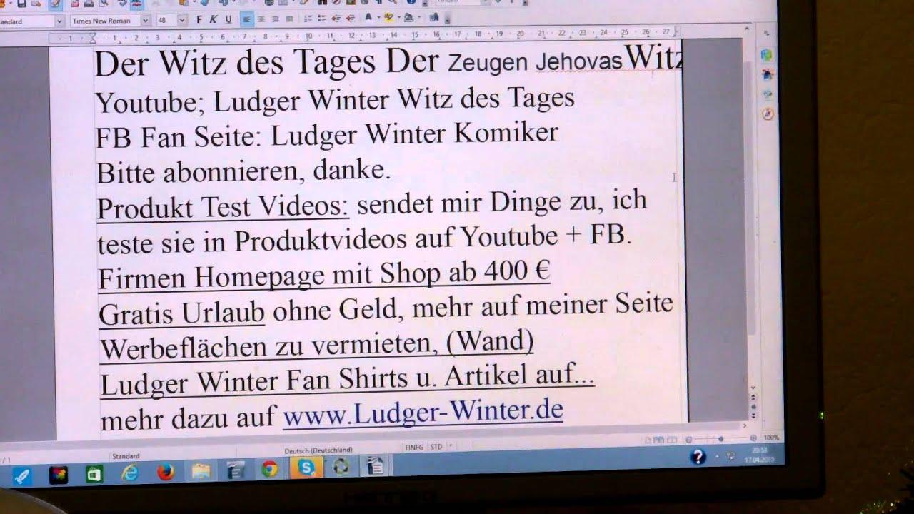 421 ludger winter witz des tages der zeugen jehovas witz - Lustige bilder fa rs wochenende ...