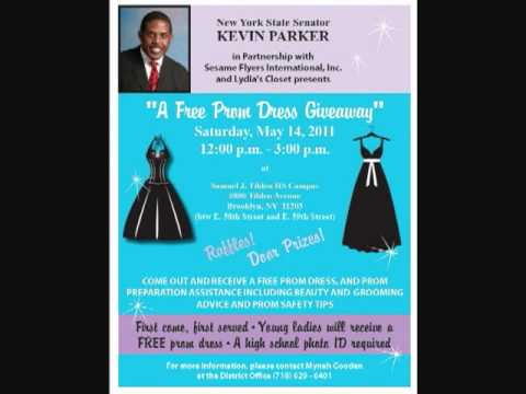 9ea1aacf396 Senator Kevin Parker s Annual FREE Prom Dress Giveaway - YouTube